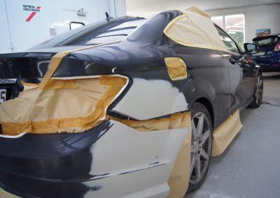 Autolackierung und Karosseriebau in Altenburg   Mercedes Coupé Unfallinstandsetzung